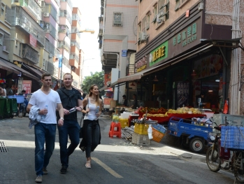Christoph, Sebastian and Melinda in Pingshan
