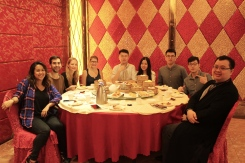 Megan, Martin, Regina, Anna, Qin, Jinying, Conan, Edison, and Kevin at Dim Sum
