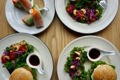 Vegan Burgers and Salad in Xili