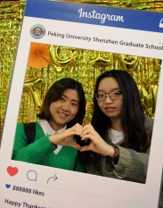 Students at the photobooth
