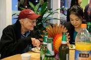 Professors Sargent and jiao enjoying dinner