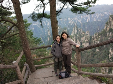 Gabby and a friend in Zhangjiajie National Park