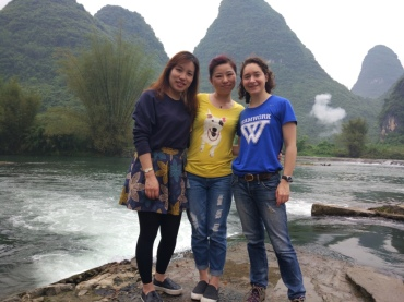 Exploring Guilin with friends
