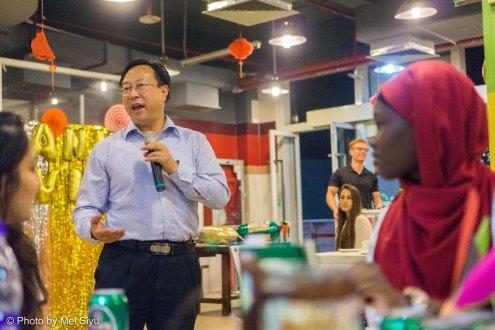 Chancellor Wu Yundong giving Opening Toast