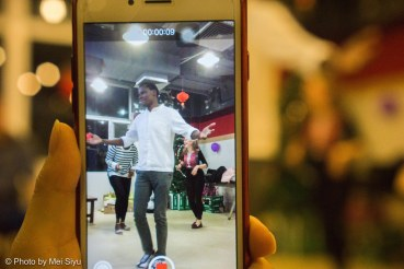 Jacob Afwata filmed on the dance floor